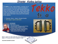 Kobudo stage with use of Tekko at Shito-ryu Karate Delft Dojo
